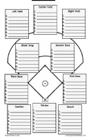 Sports information media for Baseball position chart template