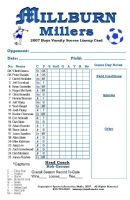 Pack of 50 Soccer Roster Cards in Color and Hardback