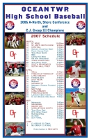 Pack of 50 Team Schedule Posters