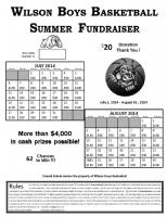 calendar raffle fundraiser template